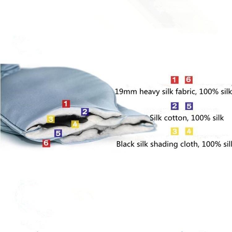 Adjustable Pure Silk Health Sleep Double-Side Shading Eye Mask (Charcoal Black)