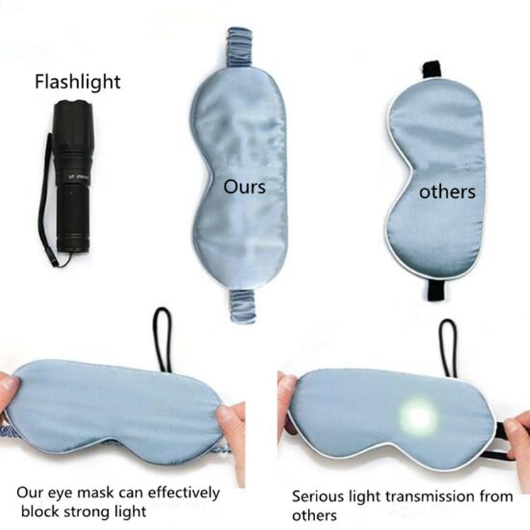 Adjustable Pure Silk Health Sleep Double-Side Shading Eye Mask (Water Gray)