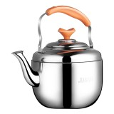 Stainless Steel Kettle Extra Thick Whistle Burning Kettle Home Teapot Large Capacity (6.8L Apple kettle)