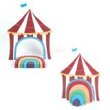 Children Toys Wooden Stacks Rainbow Blocks Circus Ornaments Home Decoration