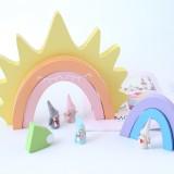 Sun Rainbow Building Blocks Children Toys Photo Photography Props