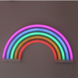 Home Rainbow Neon LED Wall Decoration Light Children Room Children Clothing Store Photography Props