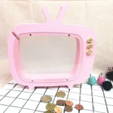Wooden TV Storage Tank Children Room Display Photography Props Toys (Pink)
