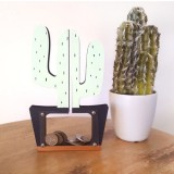 Wooden Cactus Piggy Bank Home Children Clothing Store Decorative Photography Props