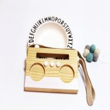 Simple Log Recorder Hanging Children Room Children Clothing Store Decorative Photography Props (White)