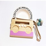 Simple Log Recorder Hanging Children Room Children Clothing Store Decorative Photography Props (Pink)