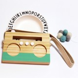 Simple Log Recorder Hanging Children Room Children Clothing Store Decorative Photography Props (Green)