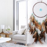 Satin Line Dream Catcher Home Crafts Ornaments Car Feather Wind Chimes