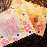 100 PCS Baking Bags Candy Bags Biscuit Bags Small Pastry Bags Handmade Soap Self-adhesive Bags