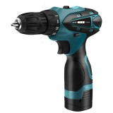 HILDA Electric Drill Cordless Screwdriver Lithium Battery Mini Drill Cordless Screwdriver Power Tools, EU Plug, Model: 12V with Carton Box