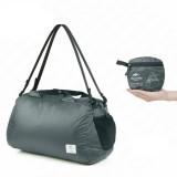 Naturehike 32L Folding Sports Bag Outdoor Waterproof High-capacity Handbag Portable Camping Travel Bag (Grey)