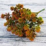 6 Branches Simulation Plant Guanyin Grass Imitation Plastic Flower Home Plant Decoration (Orange)