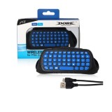 DOBE TP4-022 2.4G Wireless Controller Keyboard ABS Game Keyboard for PS4 / Slim (Blue)