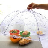 Lace Folding Dish Cover Mesh Cover Dish Dust-proof Printing Food Cover Fly-proof Cover Food Cover (Solid Color)