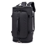 Large-capacity Backpack Luggage Backpack Travel Mountaineering Bag Outdoor Sports Bag (Black)