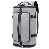 Large-capacity Backpack Luggage Backpack Travel Mountaineering Bag Outdoor Sports Bag (Gray)