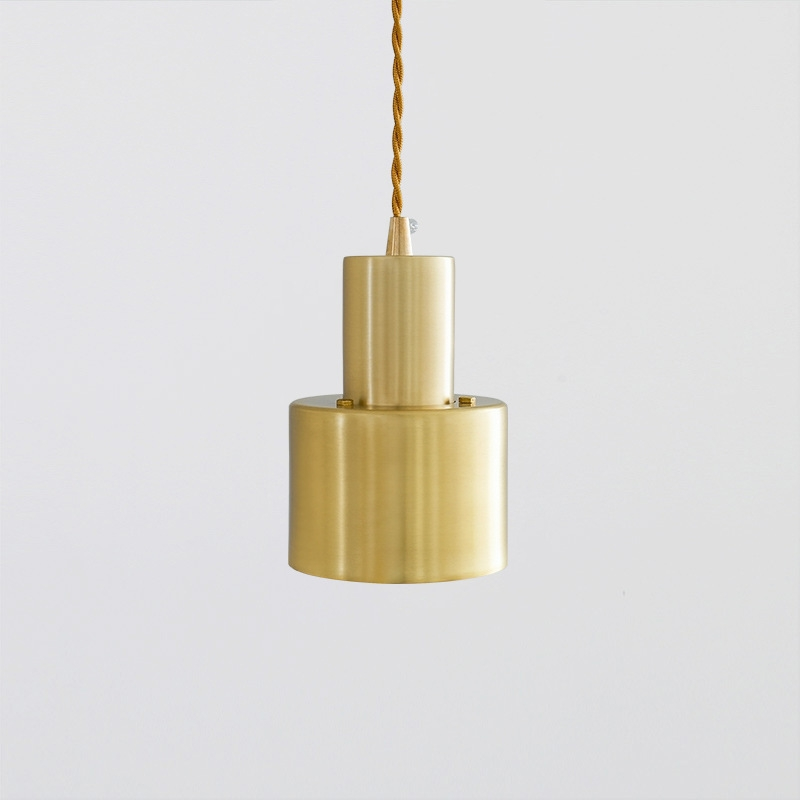 Imitation Copper E27 LED Brass Cross Small Chandelier Simple Office Bedroom Copper Brass without Light Source