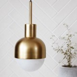 Imitation Copper Simple Single Head Bedroom Bedside Chandelier without Light Source