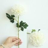 Dandelion Flower Ball Simulation Flower Home Decoration Wedding Bouquet (Milky White)
