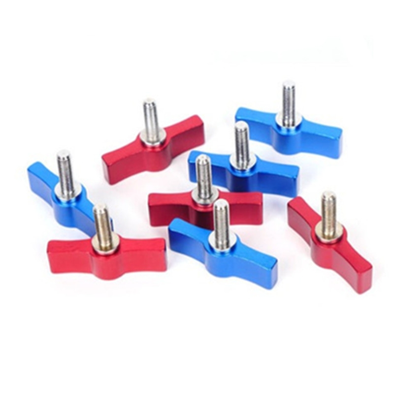 10PCS T-shaped Screw Multi-directional Adjustment Hand Screw Aluminum Alloy Handle Screw, Specification: M5 (Red)
