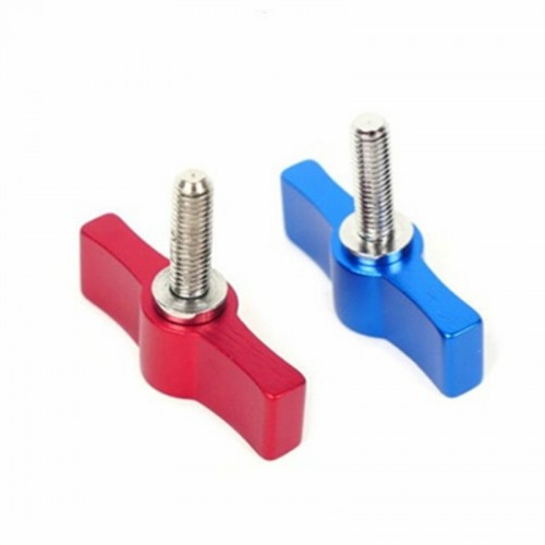 10PCS T-shaped Screw Multi-directional Adjustment Hand Screw Aluminum Alloy Handle Screw, Specification: M6 (Blue)