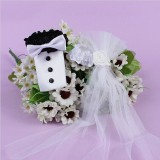 A Pair of Bride and Groom Dress Cups Decoration Wedding Supplies