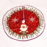 2 PCS Christmas Cloth Cartoon Christmas Tree Bottom Decoration Tree Skirt, Size: 90x90cm (Old Man)
