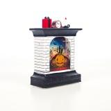 2 PCS Halloween Lantern Decoration Creative Fireplace LED Halloween Light Card Atmosphere Layout Props (Pumpkin)