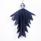 2 PCS Halloween Decoration Mini Fabric Skeleton Hanging Ghosts Bar Ghost Festival Decoration Props (Black)