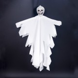 2 PCS Halloween Decoration Mini Fabric Skeleton Hanging Ghosts Bar Ghost Festival Decoration Props (White)