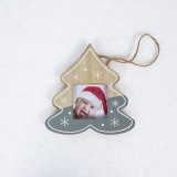 2 PCS Christmas Photo Frame Christmas Creative Photo Frame Pendant Christmas Tree Decoration Pendant, Specification: Christmas Tree (Grey)