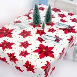 2 PCS Christmas Creative Disposable PVC Printed Tablecloth Table Decoration (Leaf)