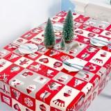 2 PCS Christmas Creative Disposable PVC Printed Tablecloth Table Decoration (Square Plaid)