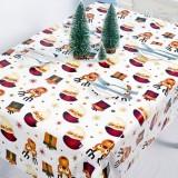 2 PCS Christmas Creative Disposable PVC Printed Tablecloth Table Decoration (Elk Old Man)