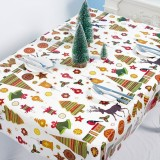 2 PCS Christmas Creative Disposable PVC Printed Tablecloth Table Decoration (Bell)