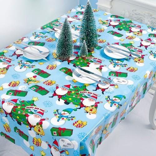 2 PCS Christmas Creative Disposable PVC Printed Tablecloth Table Decoration (Christmas Tree)