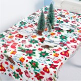 2 PCS Christmas Creative Disposable PVC Printed Tablecloth Table Decoration (Red Fruit)