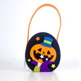 2 PCS Halloween Candy Bags Fabric Felt Halloween Trick or Treat Candy Storage Basket Children's Shopping Basket (B Section)