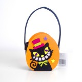 2 PCS Halloween Candy Bags Fabric Felt Halloween Trick or Treat Candy Storage Basket Children's Shopping Basket (C Section)