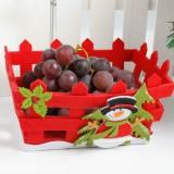 2 PCS Christmas Eve Candy Apple Gift Fruit Storage Basket Decoration (Snowman)