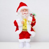 2 PCS Electric Santa Claus Creative Music Doll Lantern Santa Claus Toy Ornaments (Candle Santa)