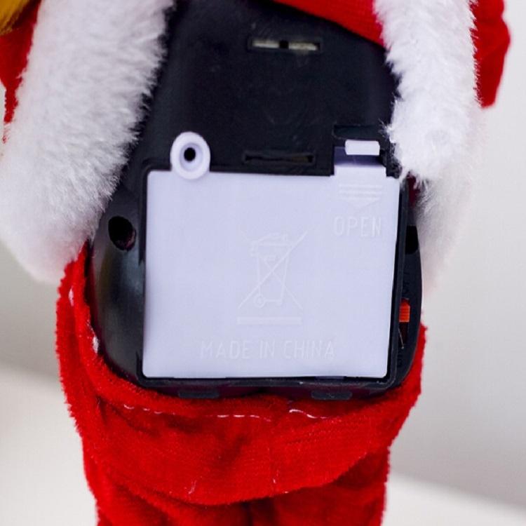 2 PCS Electric Santa Claus Creative Music Doll Lantern Santa Claus Toy Ornaments (Candle Santa)