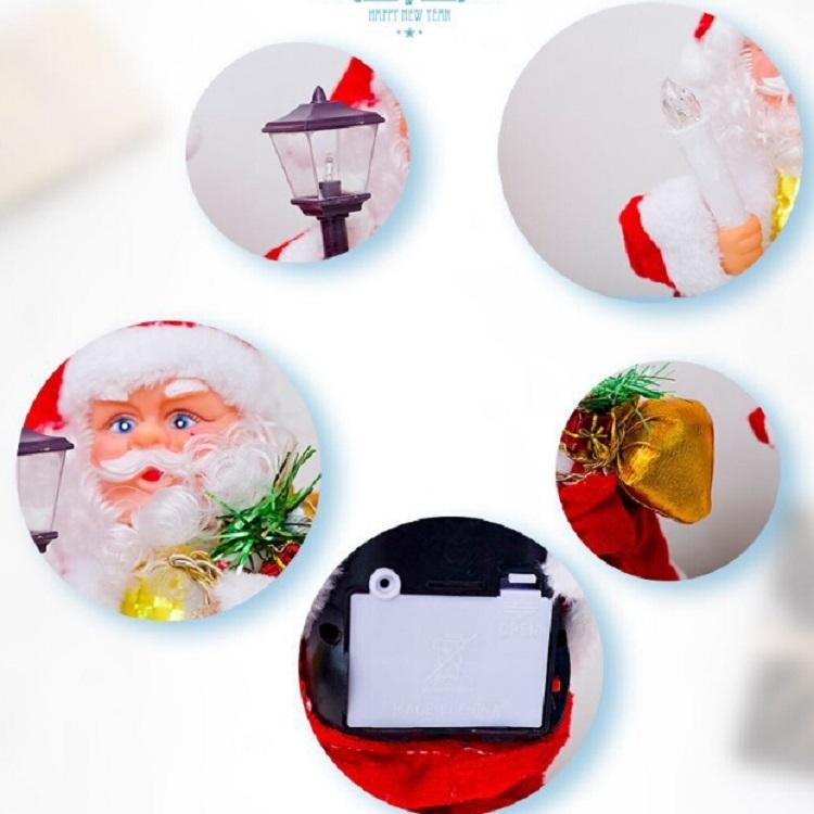 2 PCS Electric Santa Claus Creative Music Doll Lantern Santa Claus Toy Ornaments (Table Lamp Santa)