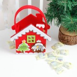 2 PCS Creative Cartoon Christmas Gift Bag Candy Bag Non-woven Gift Bag Christmas Decoration (Snowman)