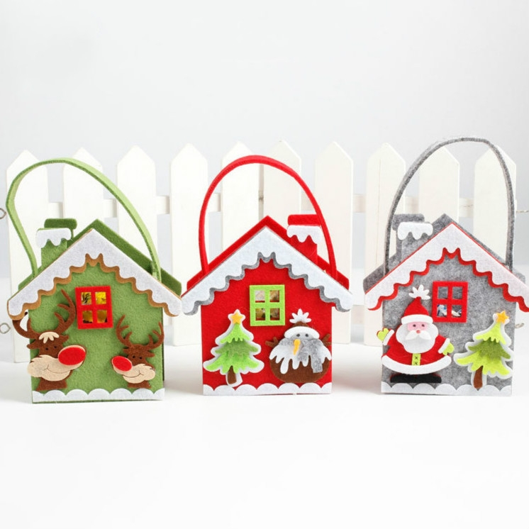 2 PCS Creative Cartoon Christmas Gift Bag Candy Bag Non-woven Gift Bag Christmas Decoration (Snowman)