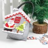 2 PCS Creative Cartoon Christmas Gift Bag Candy Bag Non-woven Gift Bag Christmas Decoration (Old Man)