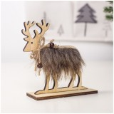 2 PCS Christmas Creative Home Wooden Felt Elk Decoration, Size: Medium