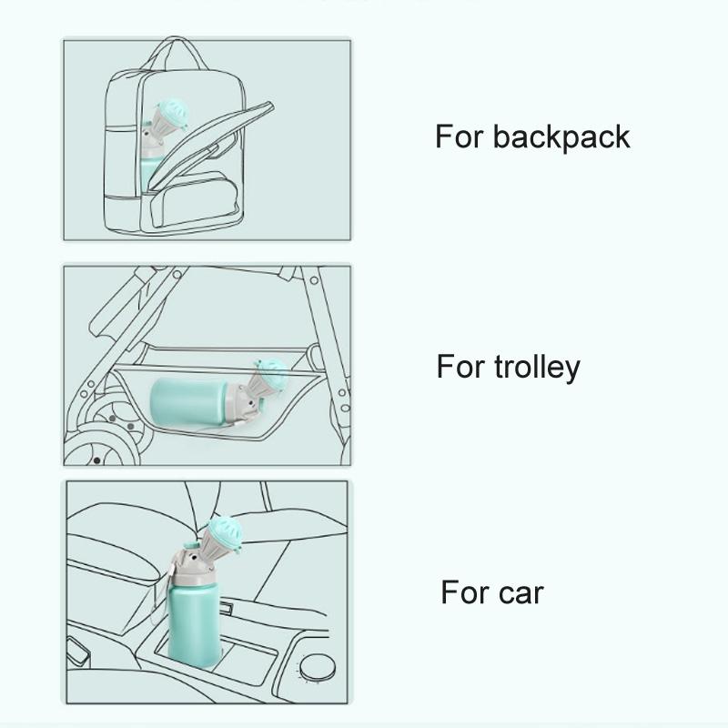 3 PCS Portable Kids Urinal Car Toilet Reusable Pee Bottle (Blue For Boy)