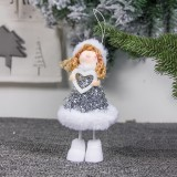 2 PCS Cute Cloth Christmas Doll Ornaments Creative Christmas Tree Decoration Pendant (Love Angel)