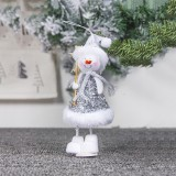 2 PCS Cute Cloth Christmas Doll Ornaments Creative Christmas Tree Decoration Pendant (Christmas Snowman)